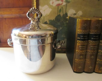 Vintage Silver Plated Ice Bucket, Trophy Golf Ice Bucket, Bar Cart Decor, F.B. Rogers Silver Co, Hollywood Regency