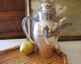Vintage Pairpoint Silver Company Cocktail Shaker, Silver Plated Bar Ware, Bar Cart Decor, 1930's Barware