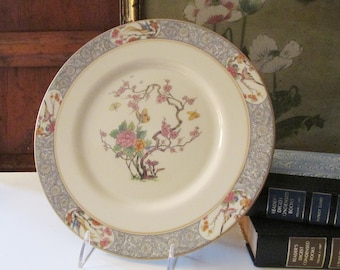 Vintage Lenox USA Serving Plate, Ming Pattern, Chinoiseire Dessert Tray, Chop Plate, Tree of Life, Oriental Decor