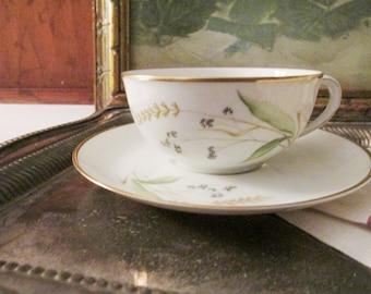 Four Vintage Arzberg Germany Teacup and Saucer, Tea Party Decor, Vintage Gift