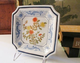 Vintage Chinoiserie Catch All Tray, Oriental Decor, Home Office Decor, Entry Table, Trinket Tray