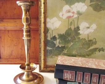 Vintage Mottahedeh Historical Charleston Reproductions, Brass Candlestick, Mantel Decor, Hollywood Regency