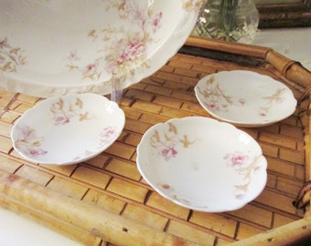 Three Theodore Haviland Limoges Butter Pats, French Butter Dishes, Romantic China