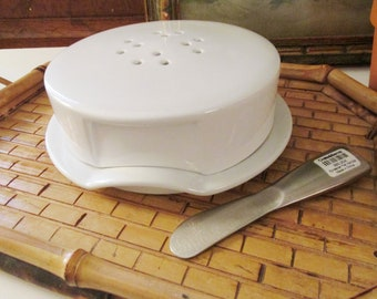Crate & Barrel Brie Baker, Cheese Board and Spreader, Cheese Storage, White Brie Baker,