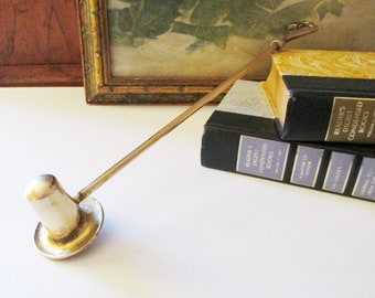 Vintage Brass Top Hat Style Candle Snuffer, Solid Snuffer, Old World, Gothic Design, Boho Brass Decor