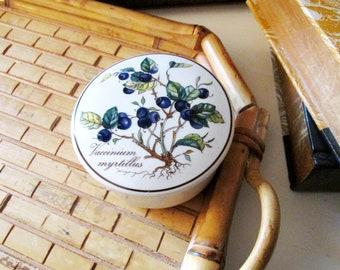 Vintage Villeroy & Boch Trinket Box, Vaccinium Myrtillus, Botanica Collection, Blueberry, Candy Box, English Cottage Trinket Box