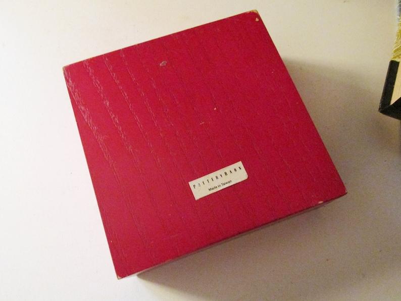 Tags Wine Label Set of Six Chalkboard Napkin Rings Etc Red Wood Box Set of Chalkboard Tags Pottery Barn