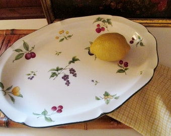 Noritake Fruit Parfait Platter, Freezer to Oven to Table Platter, Alfresco Dining, French Country Decor