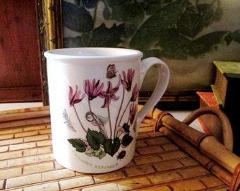 The Botanic Garden by Potmeirion Breakfast Mug, Coffee Mug, Cottage Chic English Garden Mug, Cyclamen Mug