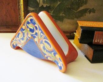"""Vintage Pfalzgraff """"Villa Della Luna"""" Napkin Holder, Italian Inspired Napkin Holder"""