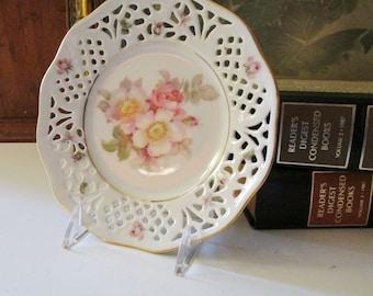 "Vintage Schumann Arzberg ""Rosedale"" Small Plate, Dresden Bavaria, Romantic Plate"