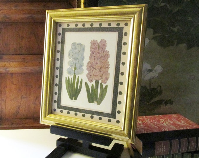 Featured listing image: Vintage Antique Hyacinths Floral Print, Botanical Picture, Interior Designer Customed Framed, Mason Lane For Persnickety, Wall Gallery