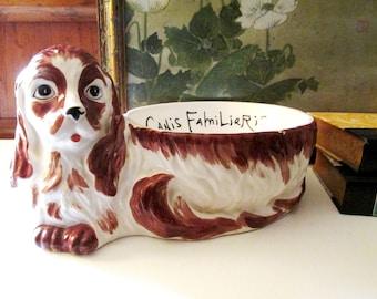Gloria Vanderbilt For Taste Setter by Sigma, Porcelain Ceramic Dog Food Bowl, Planter, Gift For Dog Lover, Canis Falmiliaris