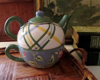 Vintage Waverly Masterpiece Tea For One, Garden Room Teapot, Tea Party Decor, Vintage Gift, Heirloom Collection