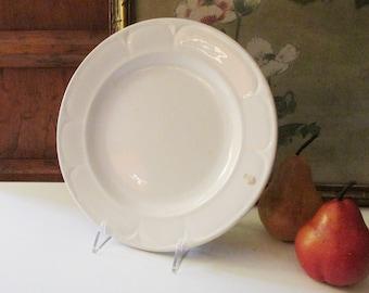 James Edwards & Son White Ironstone Plate, Antique Dinner Plate, Farmhouse Table Decor, English Ironstone