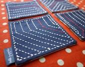 Sashiko Angles, Cotton Coaster Gift Set
