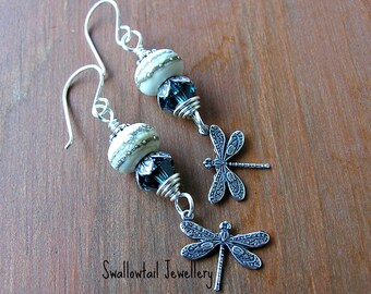 Mist on Dragonfly Pond Earrings