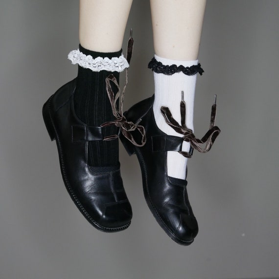 mary laces garde janes black size leather avant velvet 8 5 with 8 minimalist 90s cxwBTzWc