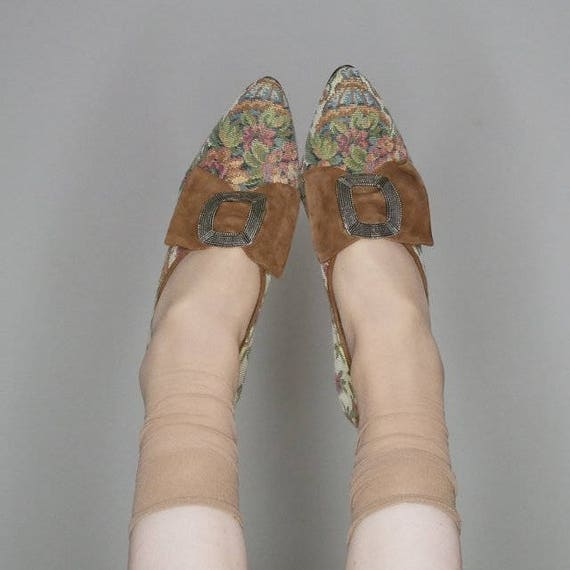 90s size floral tapestry heels fox 80s 8 deadstock peter 7RCdx0Inwq