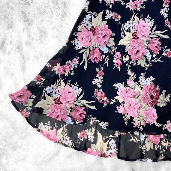 Vtg 90s garden fairy grunge floral print dress by… - image 5