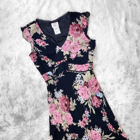 Vtg 90s garden fairy grunge floral print dress by… - image 3