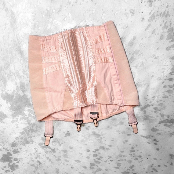 vtg 40s/50s pastel pin up pink girdle by excelsior