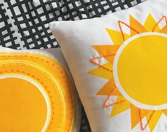 Sunshine Cushion // screenprinted & handmade