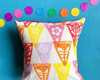 Papercut Cushion // Screenprinted & Handmade // Papel Picardo // Floral Cushion