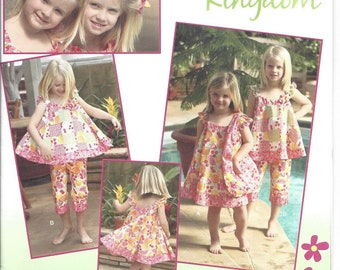 Simplicity 2466 Daisy Kingdom Dress Capri Tote Bag Clothes SEWING PATTERN 3-8