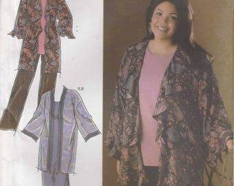 Kimono Pattern Pants Tunic Dress  Women's Plus Size 26W - 32W  uncut  Simplicity 4892 Khaliah Ali Collection