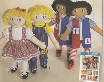 Learn to Dress Doll Pattern 24 inch Tall Boy Girl Clothes Uncut Simplicity 2729 Simplicity Archives