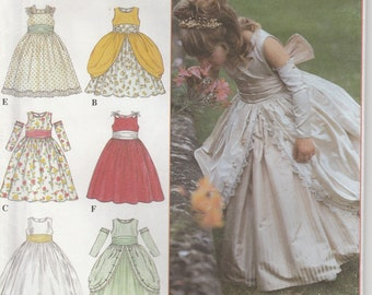 Flower Girl Dress Pattern Pageant Gown Girls Size 4 - 5 - 6 - 7 - 8 Uncut Simplicity 8953