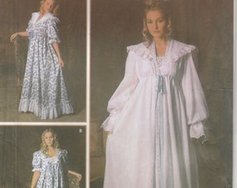 Victorian Nightgown Pattern Turn of the Century  Reenactment Misses Size XS - S - M 6- 16 Uncut Simplicity 5188