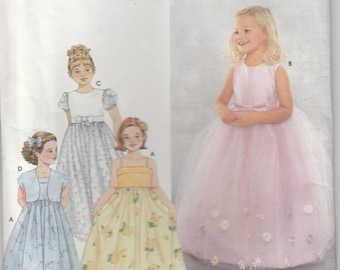 Flower Girl Dress Pattern Pageant Gown Size 3 - 4 - 5 Uncut Simplicity 9147