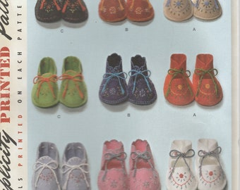 Baby Booties Pattern Baby Shoes Infant Shoes Wool Felt Shoes  Simplicity 2867