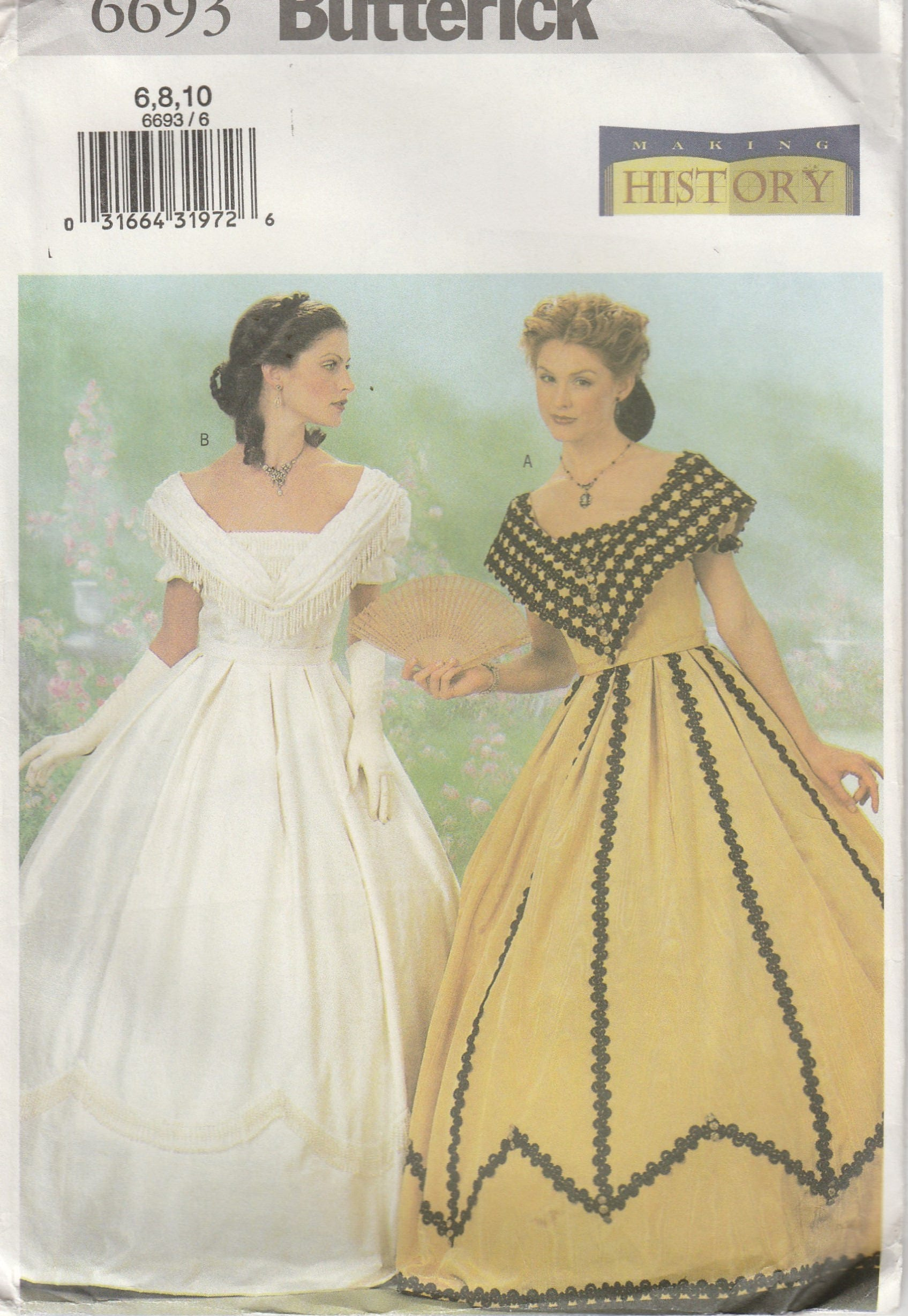 Southern Belle Gown Civil War Era Dress Reenactment Misses | Etsy