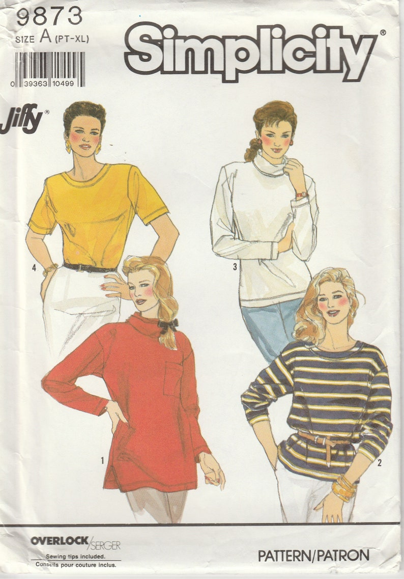 6577 manque la Knit Tops juste 4 Knits sewing pattern New Look Taille 6-18