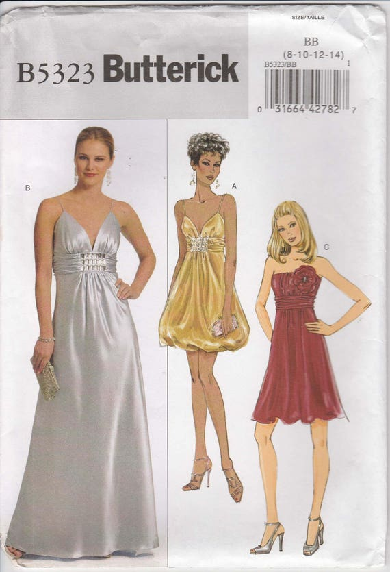 Formal Dress Pattern Lined Short And Long Prom Bridesmaid Etsy