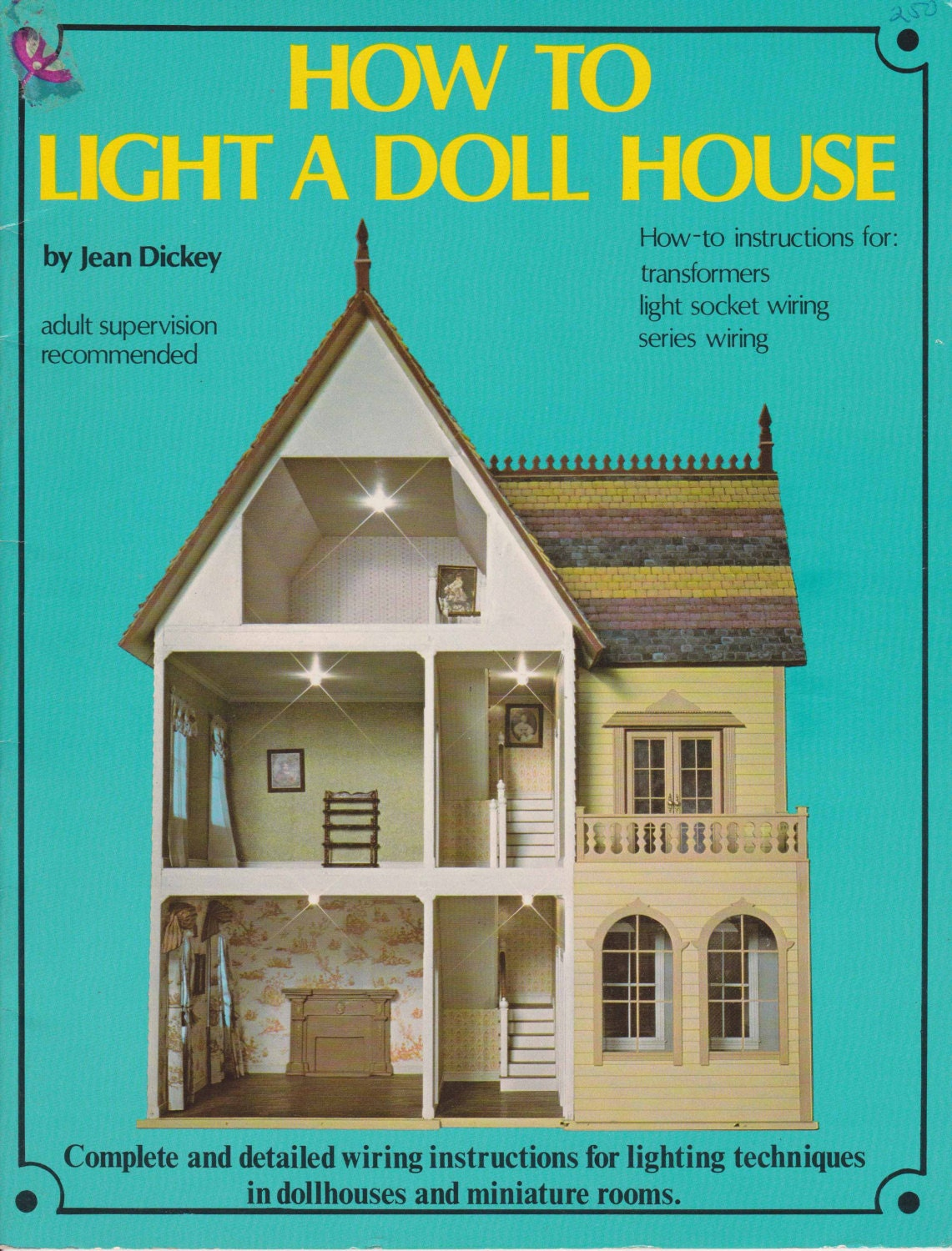 How To Light A Doll House 1975 Miniature Dollhouse Etsy Lamp Socket Wiring Zoom