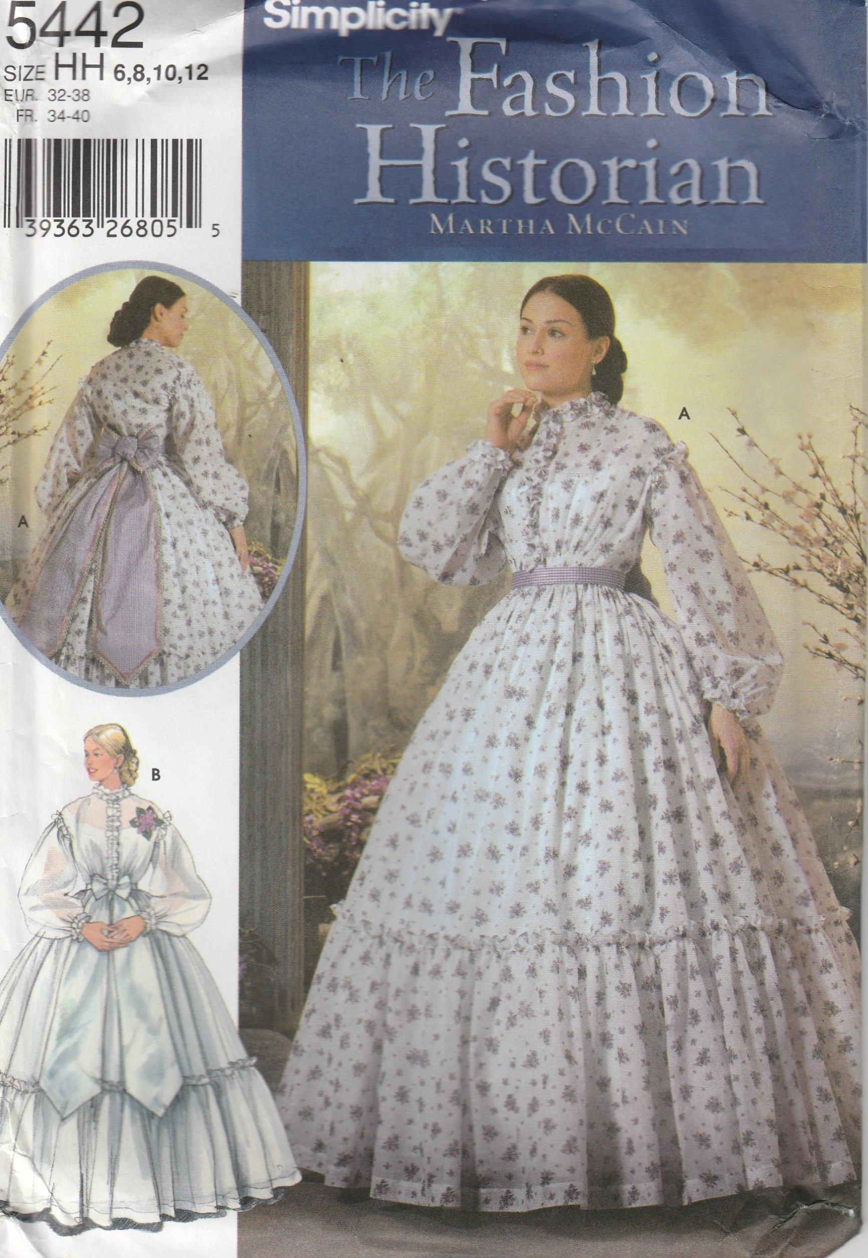 Civil War Era Gown Southern Belle Reenactment Misses Size 6 | Etsy