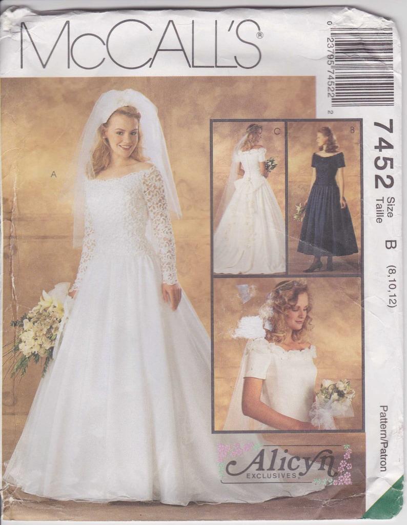 Wedding Dress Pattern Size 8 10 12 Uncut Alicyn Etsy