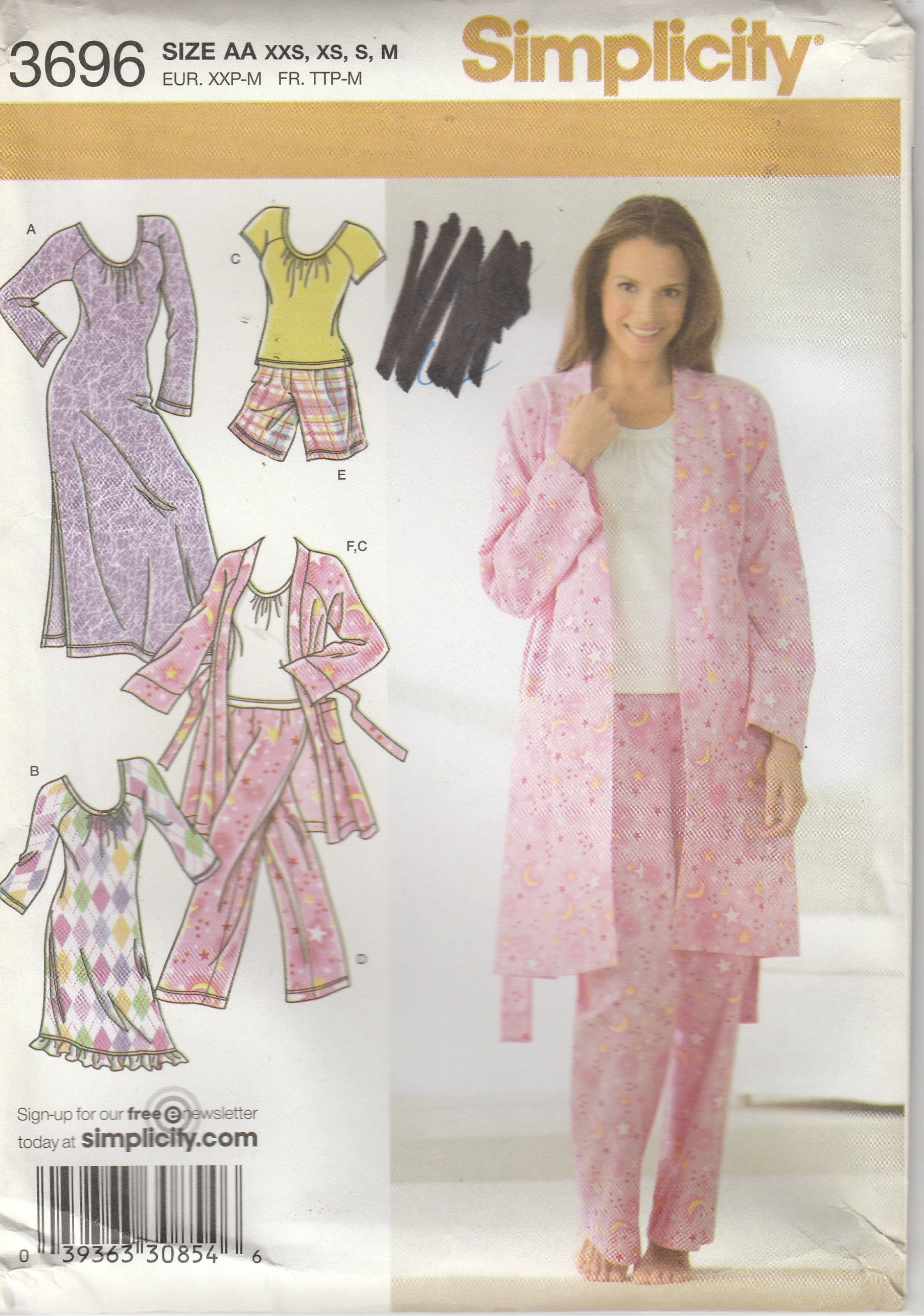 Simplicity Pajama Patterns Cool Decorating Design