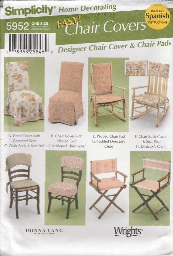 Pleasing Easy Chair Pad Pattern Rocking Chair Directors Chair And Chair Cover Uncut Simplicity 5952 Uwap Interior Chair Design Uwaporg