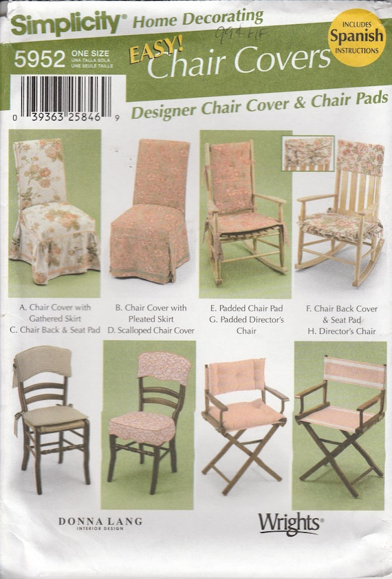 Wondrous Easy Chair Pad Pattern Rocking Chair Directors Chair And Chair Cover Uncut Simplicity 5952 Dailytribune Chair Design For Home Dailytribuneorg