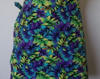 Wrap Around Skirt - Colorful Leaves