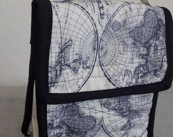 Insulated Lunch Bag - World Map