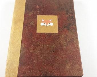 Foxy Journal||Hand-Bound Hard Cover Journal
