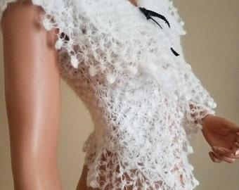 Crochet elegant shrug