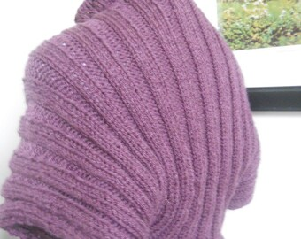 Knitted shrug, purple color and cozy
