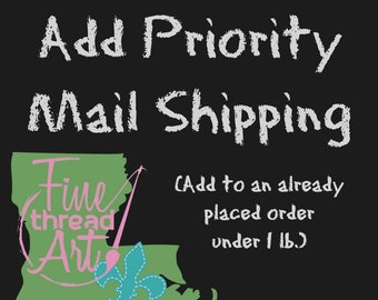 Add Priority Mail Shipping to an Open Order (Under 1 lb.)